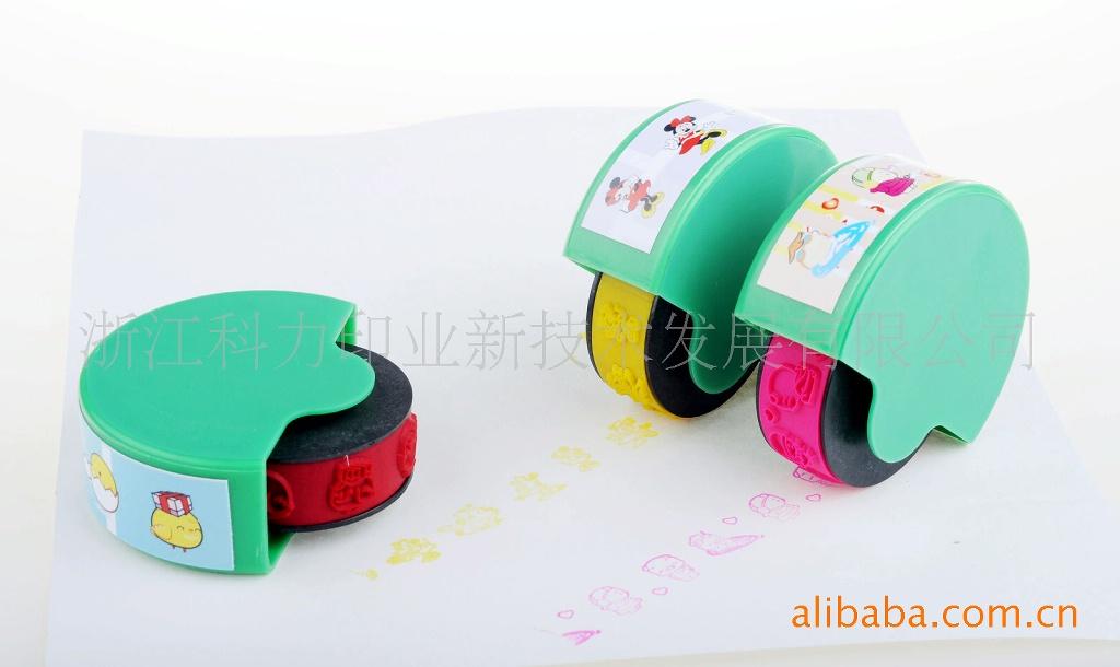 滚动玩具印章 连续图案 滚动 环保无毒