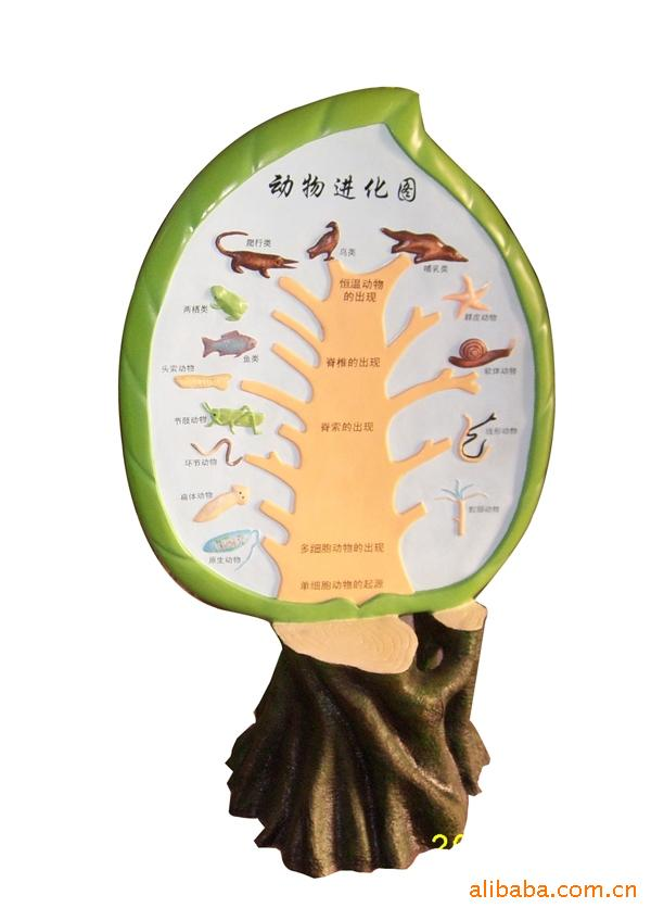 【供应精工制作生物教具生物园模型动物进化图