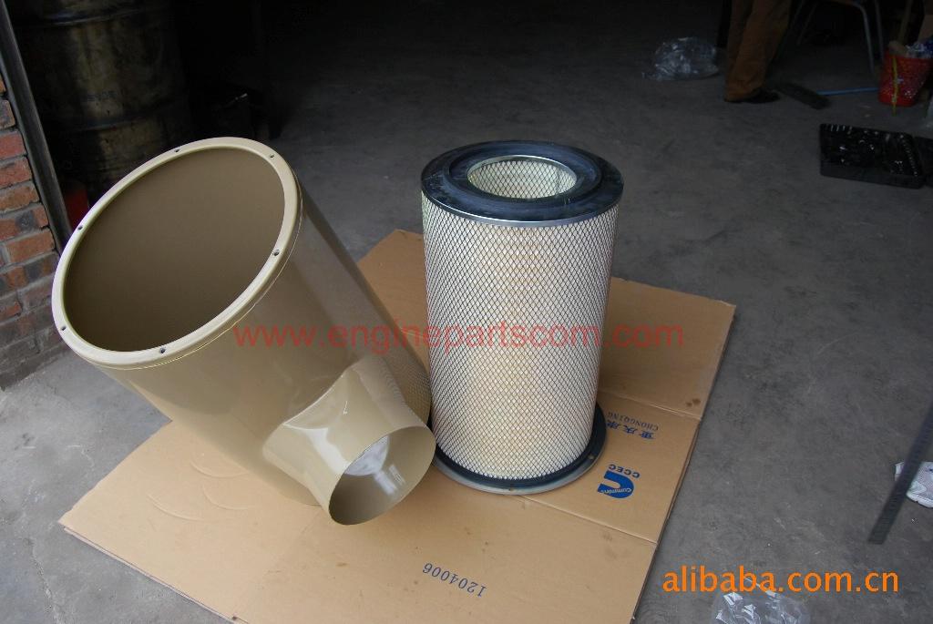 水泵机组空气滤清器总成 水泵机组用的K19康明斯发动机SO40256空气滤清器4913882