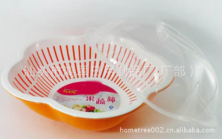 梅花PP多功带盖果蔬形滴水筛柴油塑料篮滴船用v梅花推进器沥水图片