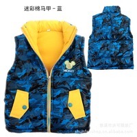 Жилет для мальчиков Male child down cotton vest with a hood