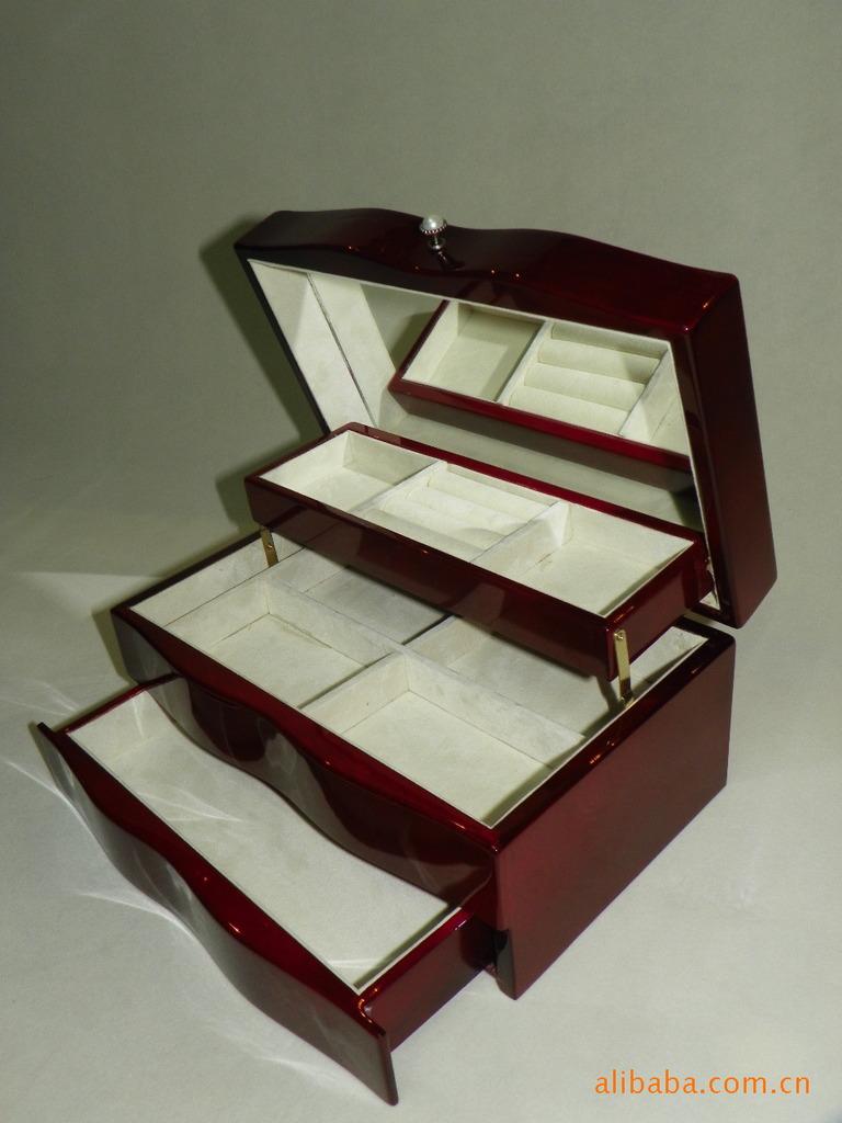 木盒子设计图-高档设计 钢琴漆 三层连体 高光 木制 珠宝 盒图片