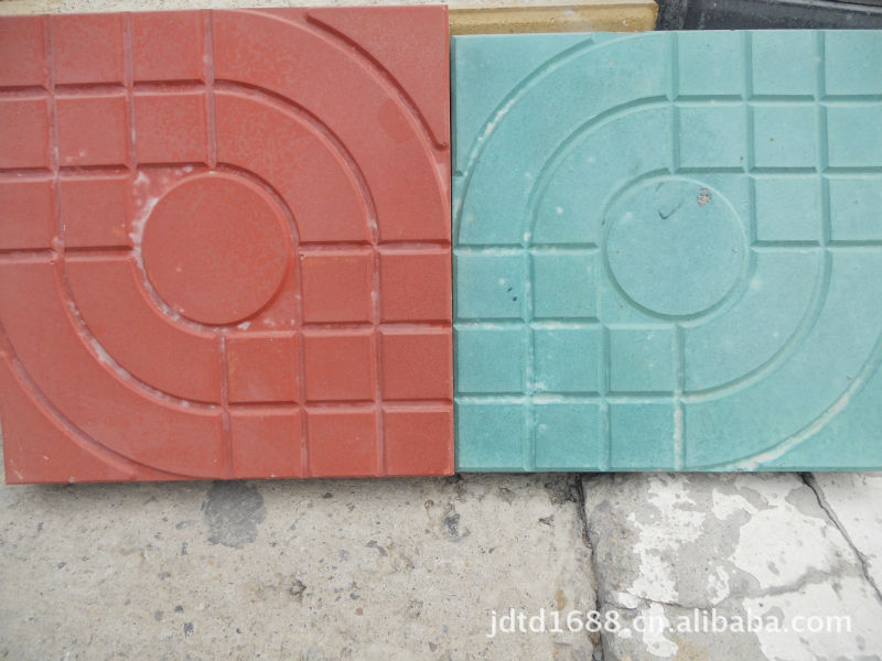 草皮砖人行道效果图-水泥砖 广场砖 渗水砖 路沿石