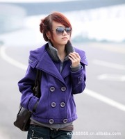 Autumn and winter 2012 women's plus size casual faux two piece double breasted sweatshirt slim thickening long-sleeve outerwear