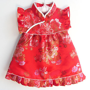 13 color of autumn and winter children's costume the wholesale baby cheongsam wholesale girls princess skirt years o