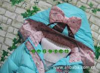 Пуховик для девочек Child down coat female child medium-long baby down coat
