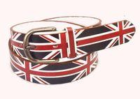 падение судоходных 2015 моды женщин мужчины Винтаж ретро Великобритании Флаг каракули панк-моды hiphop мужской дамы ремня