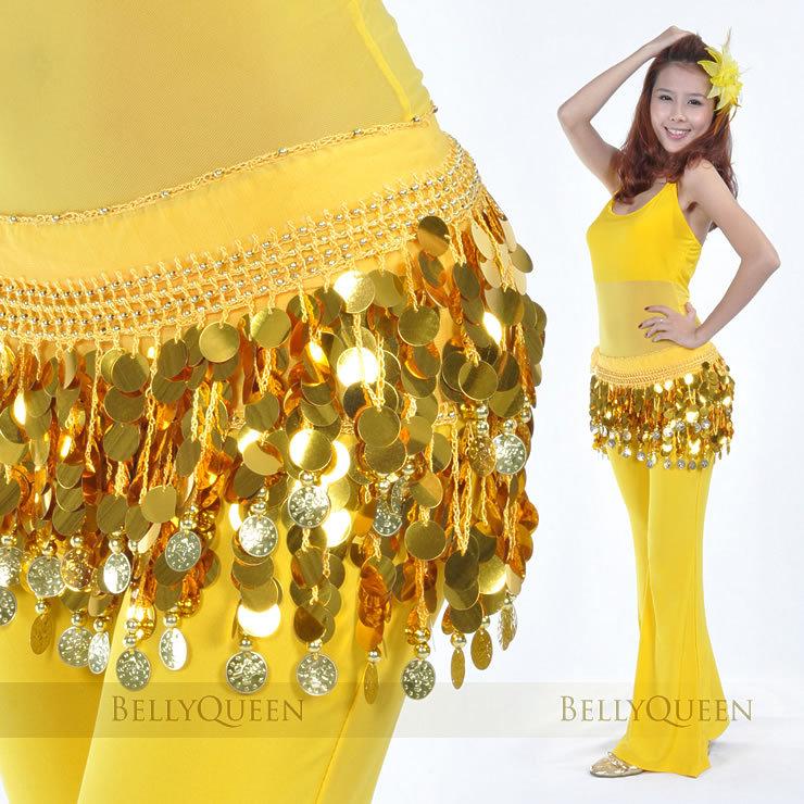 New Belly Dance Costume Hip Scarf Belt Sequins/&Golden Coins 5 Colors