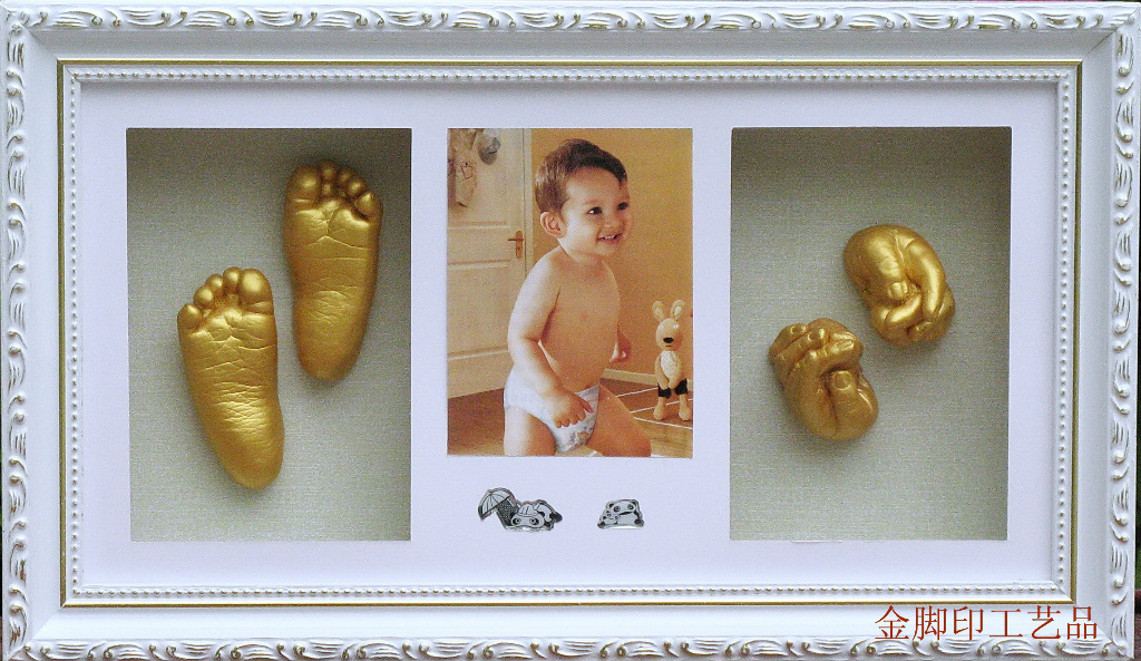 Supply baby souvenirs dimensional footprints handprint hand and