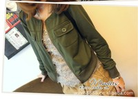 2012 autumn women's o-neck jacket outerwear all-match casual cardigan short jacket 4