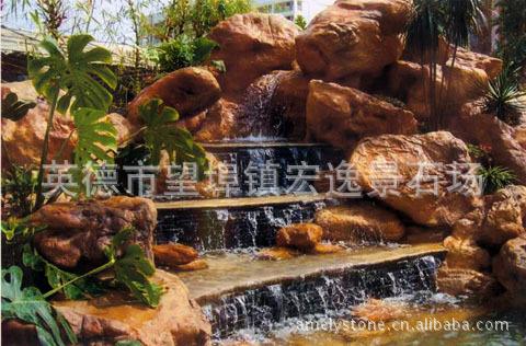承接别墅红树假山私家、价格庭院、塑石塑树工鱼池珠海湾中信花园别墅图片