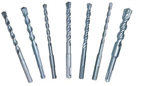 drill bits 水泥钻冲击钻圆柄方柄一字十字刀头20x310双槽