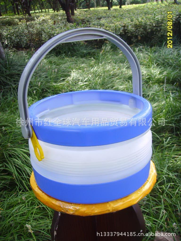 车用折叠水桶 JB8洗车桶 爱丽思IRIS 洗车用水桶 蓝色图片