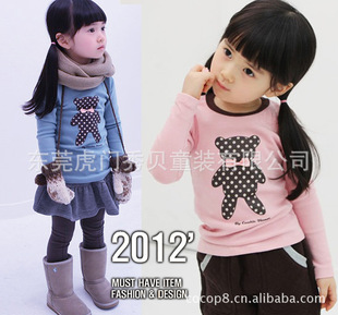 Japan and South Korea's foreign trade Winnie long-sleeved youngster shirt, child sweater, children's wear long-s