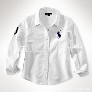 Foreign trade children's clothing wholesale POLO children's shirts, boys and girls white shirt students Tong dre