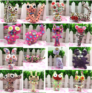 VIP wholesale hand Fabric queen - Korean creative plush toys buttons doll bag pendant wholesale