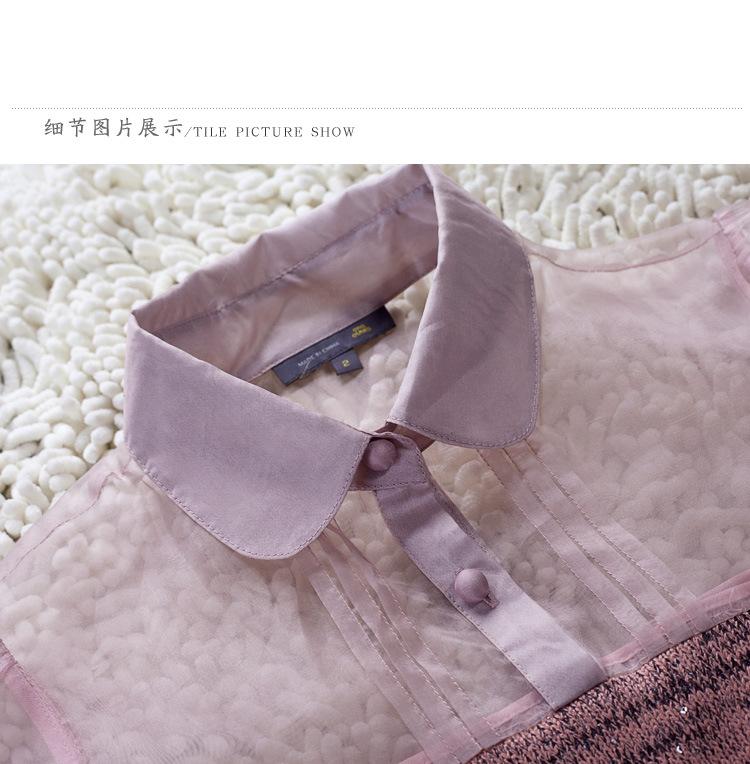 【S码预售】优雅气质时尚秀肩连衣裙1210066