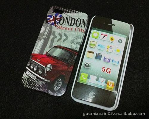 【C508苹果iPhone5游戏机可乐国旗铁塔球