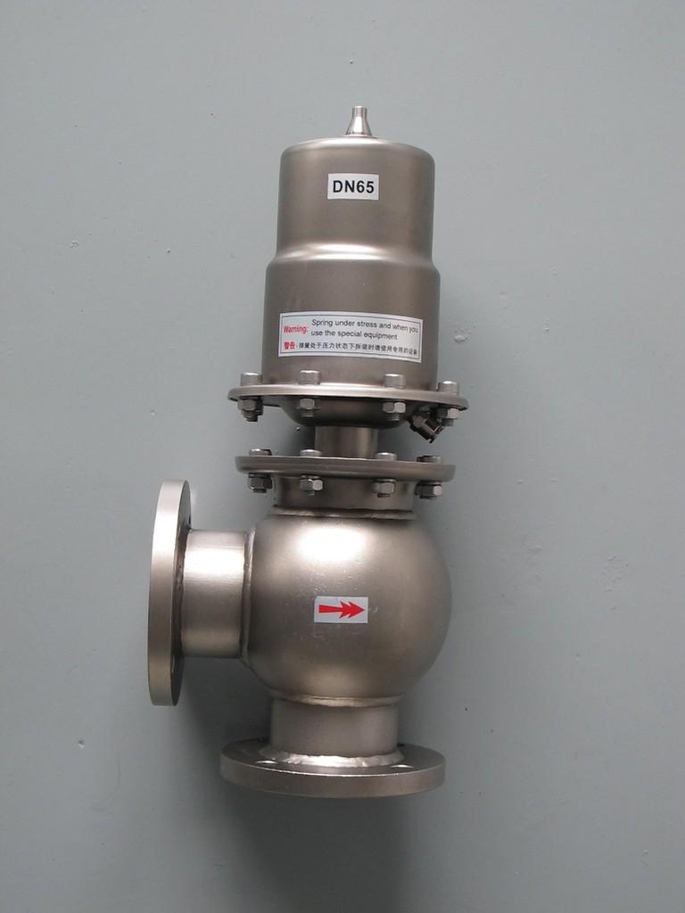 优质OBEM染色机设备专用不锈钢气动直角阀DN65图片