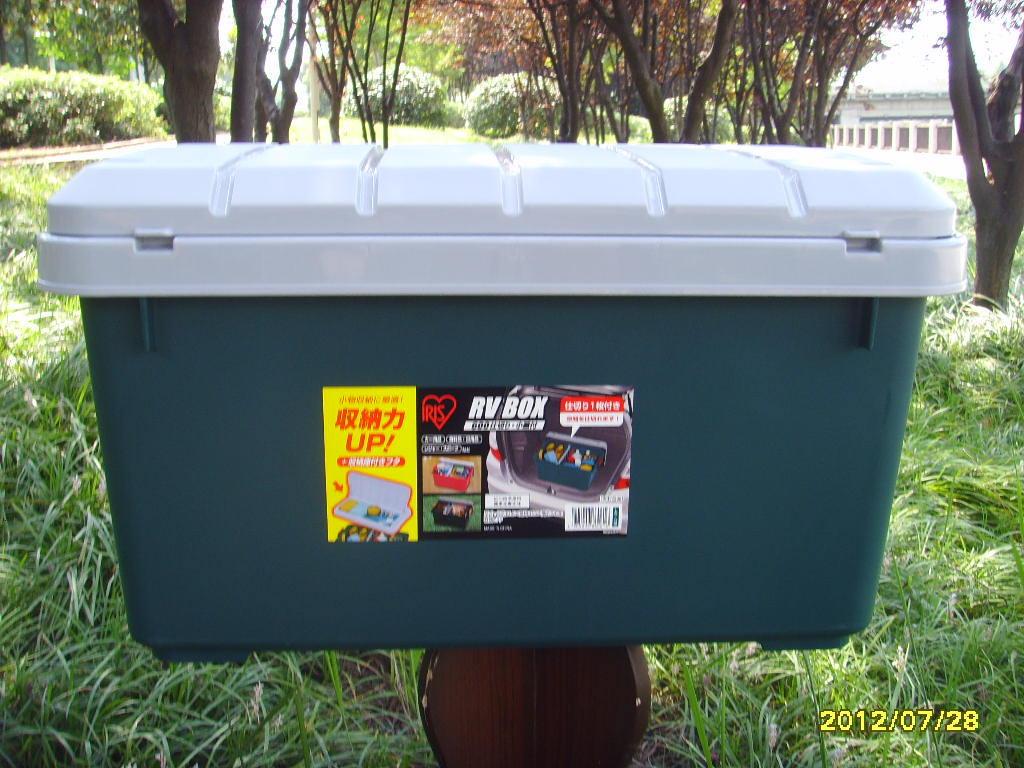 收纳箱 RVBOX600XP 盖中盖绿色日本爱丽思IRIS图片