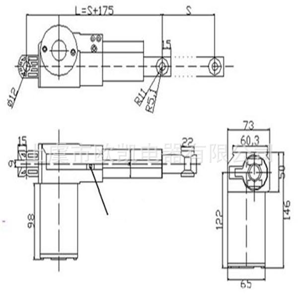 供应传动机械用直流电动推杆(成熟技艺)代替气动升降杆