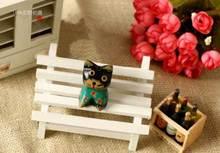 【迷你】公园凳摆设 拍摄背景道具 双人椅 迷你小家具 zakka杂货