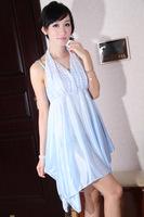 Женские ночные сорочки и Рубашки 5706 sleepwear summer halter-neck suspender skirt women's lounge