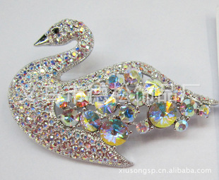 The brooch XSXZ69812 of the production and supply of diamond brooches clothing brooch Swan