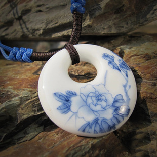Chinese style handmade ceramic jewelry wholesale jewelry national wind long necklace woven clothing decorated with new f