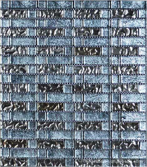 室内室外墙身景墙地面铺装装饰水晶玻璃马赛克铺贴