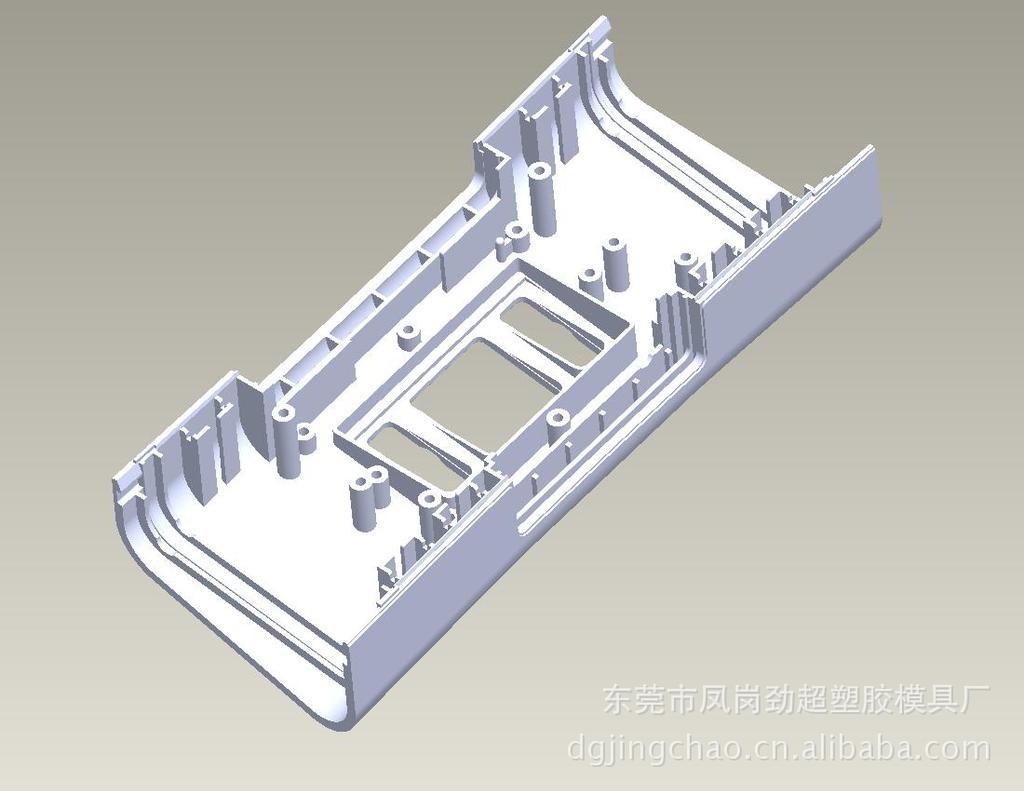 【数码电子产品模具设计】背景梯形墙的设计图图片