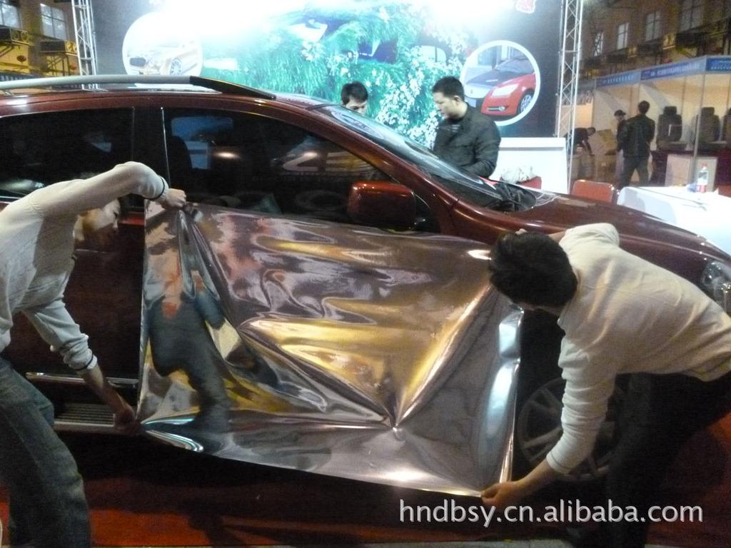应防刮花汽车 电镀膜 电镀银 贴膜 用不高清图片