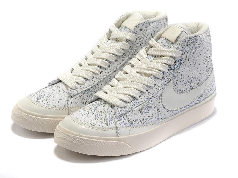2012新款nike板鞋正品耐克开拓者高帮女鞋耐克碎花帆布鞋 运动鞋