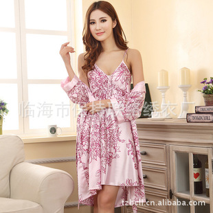 Factory outlets 2013 new women genuine silk nightdress nightgown pajamas wholesale
