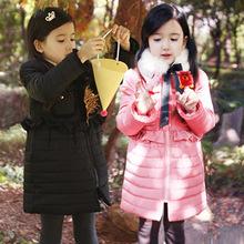 2013韩版冬款童装  中大童毛领加厚保暖棉衣 女童珍珠领棉衣z2.4