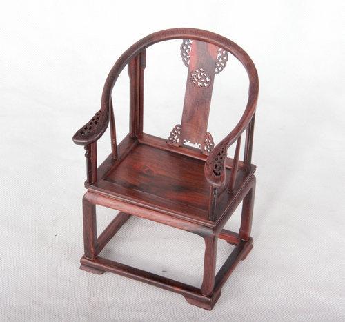 【红酸枝微型微缩皇宫图纸工艺品清红木椅小cad画法框圈椅中的图片