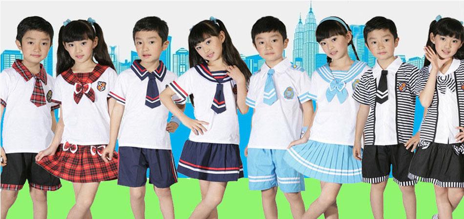 夏季日韩校服学生服批发 小学生校服定做 幼儿园园服生产厂家直销图