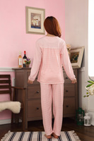 Пижама для беременных Month of clothing maternity clothing autumn 100% cotton maternity sleepwear long-sleeve nursing clothing nursing clothes lounge