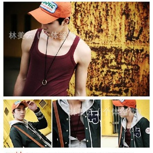 Summer fashion explosion models factory direct cotton sleeveless sports vest Men Long Vest Wholesale