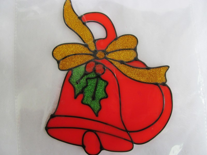 立体双面圣诞老人小鹿拉车橱窗贴画 圣诞节贴画圣诞节装饰挂画
