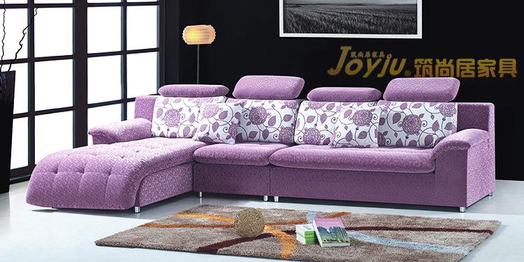 馨梦龙 贵妃位布艺沙发 客厅L型转角沙发组合 可拆洗1188 -价格图片