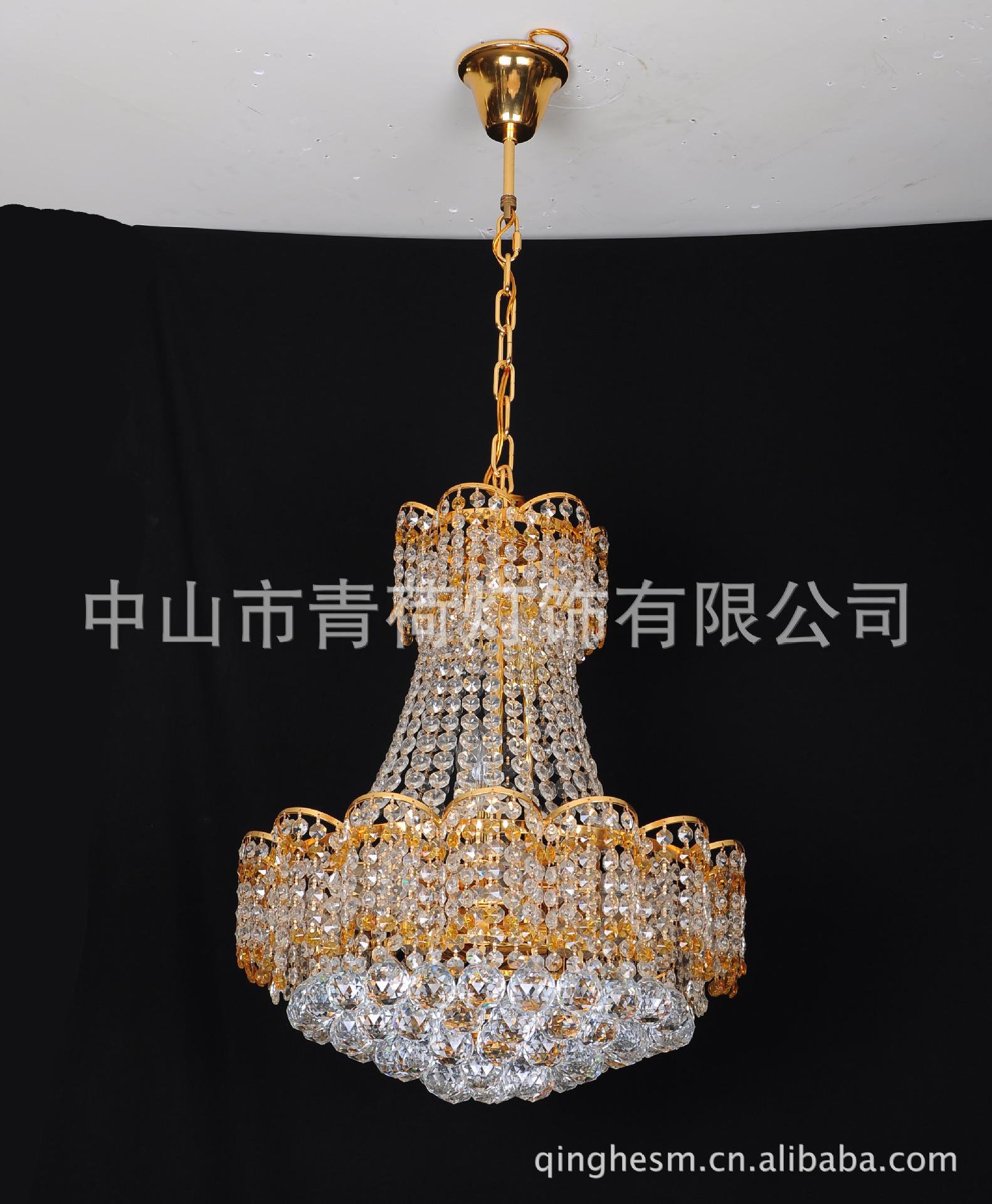 吊灯水晶灯湘菜莲花折页黄色菜谱造型棋牌室三客厅餐厅灯具图片