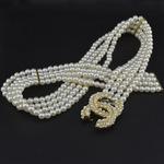 新款流行韩国进口饰品女批发代理气质珍珠镶钻女腰链腰带 ZKC677