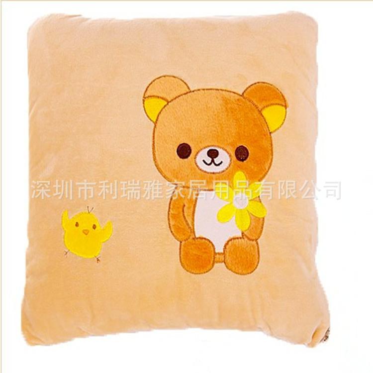 深圳厂家定制 轻松熊抱枕被 卡通礼品抱枕被 时尚礼品靠垫