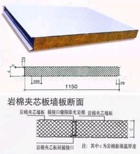 厂家生产直销供应 岩棉夹芯板 平板企口型 保温防火板