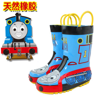 Children's rubber rain boots wellies boy Thomas skid warm water shoes water shoes to send students insole
