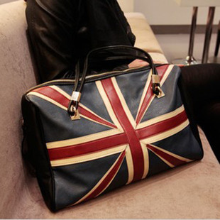 Exclusive New England College Wind Union Jack Tote Shoulder handbag big European and American style shopping bag