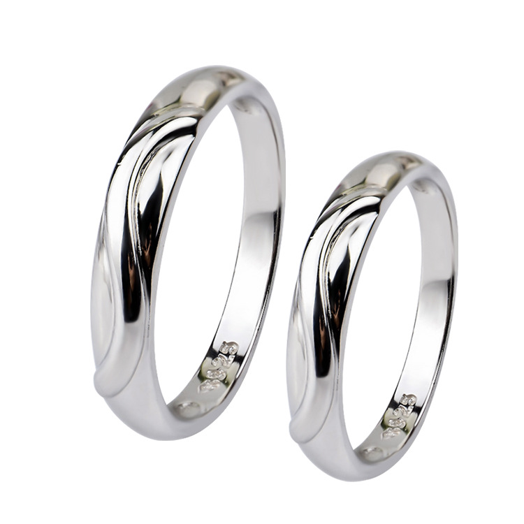 Comfort Solid 925 Sterling Silver Wedding Plain Band