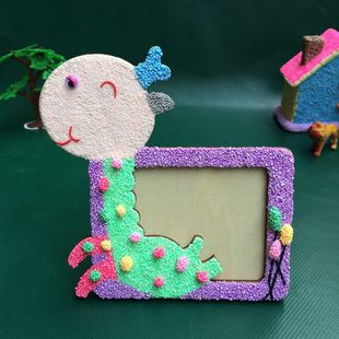 DIY puzzle toy factory direct special snowflake mud blanks wholesale picture frame [giraffes]