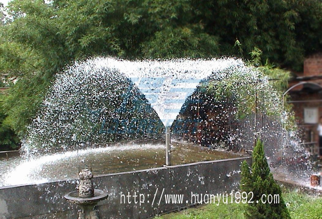 喷泉喇叭花效果图_北京音乐喷泉设备喇叭花喷泉